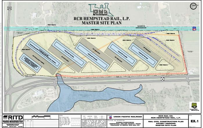 Site Plan Concept of RCR Hempstead Logistics Park